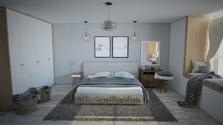 remodelacion de recamara principal Dormitorios minimalistas de Mgarquitectos Minimalista