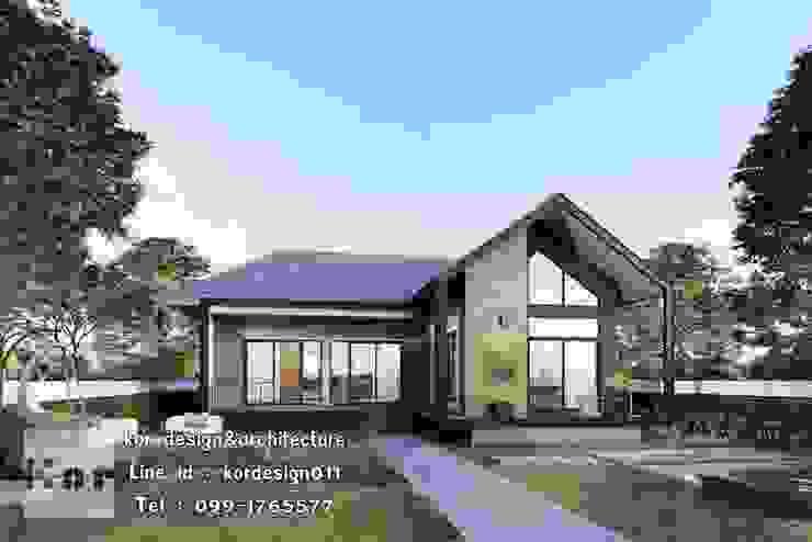 แบบบ้านชั้นเดียว รหัส MD1-005 โดย Kor Design&Architecture โมเดิร์น คอนกรีต