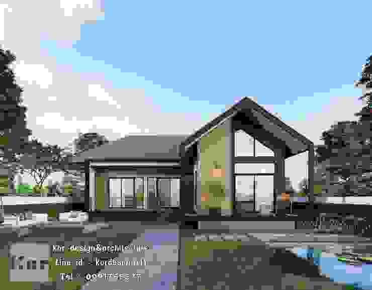 แบบบ้านชั้นเดียว รหัส MD1-005 โดย Kor Design&Architecture โมเดิร์น คอนกรีตเสริมแรง