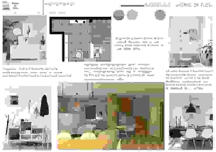 Scandinavian style corridor, hallway& stairs by Design for Love Scandinavian
