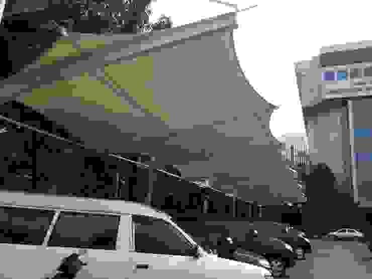 Tenda Membrane Parking Raja Tenda Membrane Atap Besi/Baja White