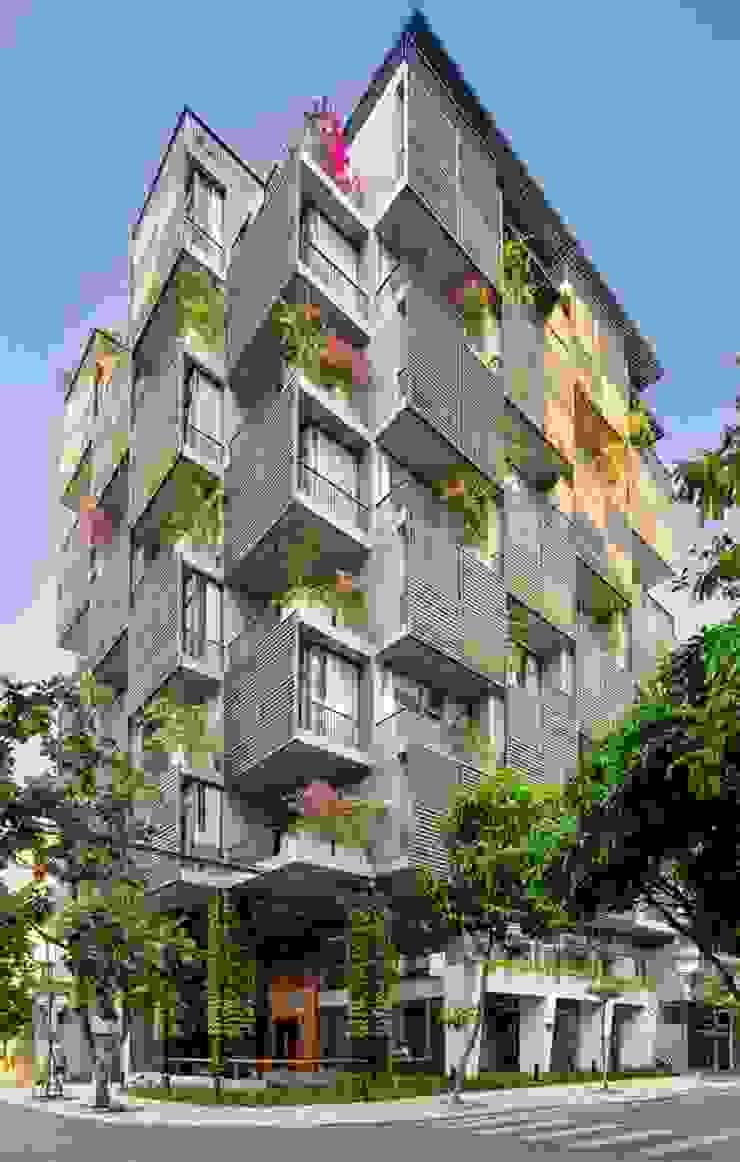 Căn hộ cho thuê _ Tropical house công ty cổ phần kiến trúc - nội thât L & W Nhà phong cách nhiệt đới