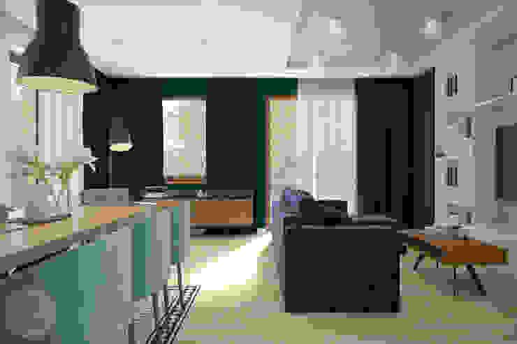 Industriale Wohnzimmer von Nevi Studio Industrial