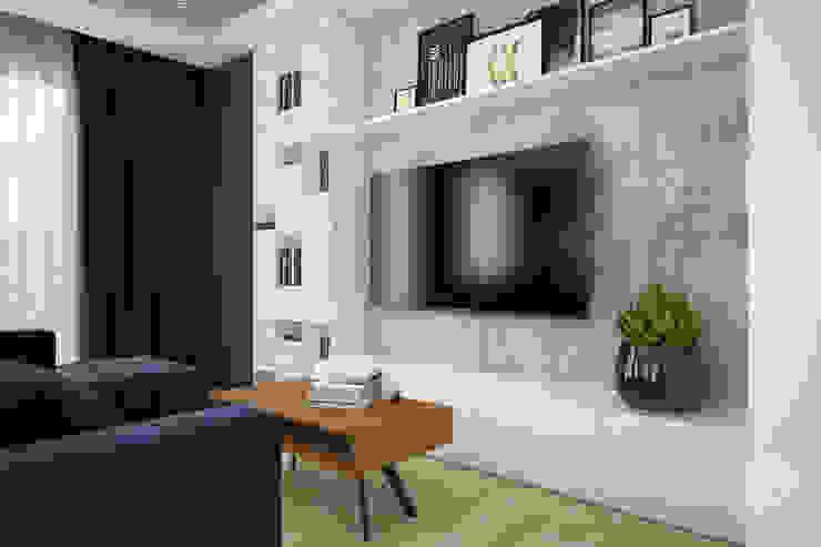 Industriale Wohnzimmer von Nevi Studio Industrial Beton