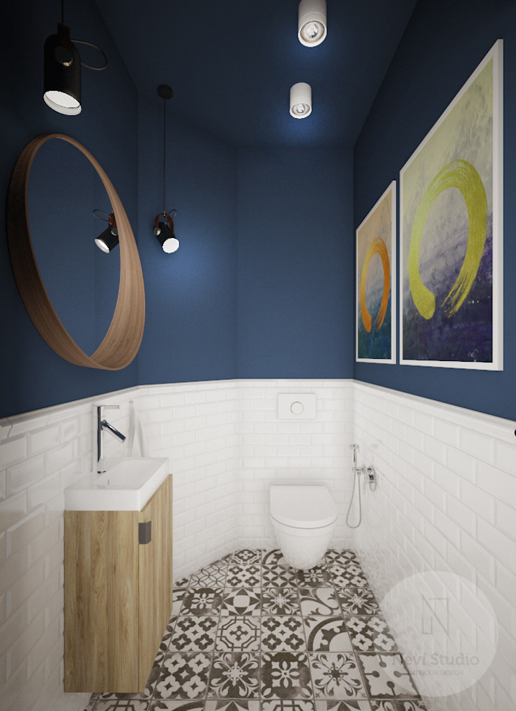 Industrial style bathroom by Nevi Studio Industrial
