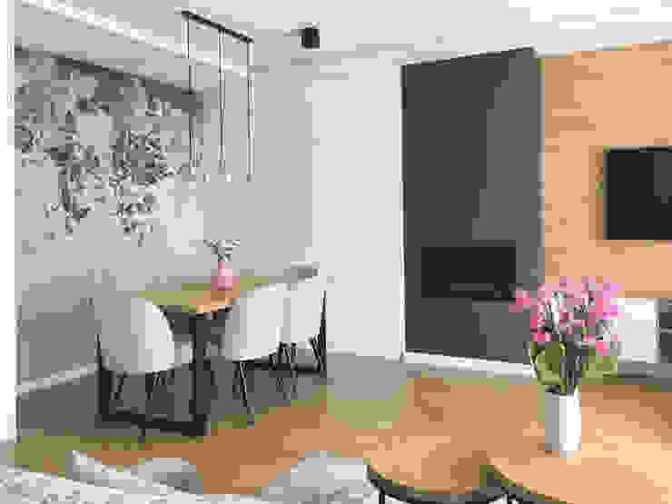 Belleville projektowanie wnętrz Living room Wood Pink