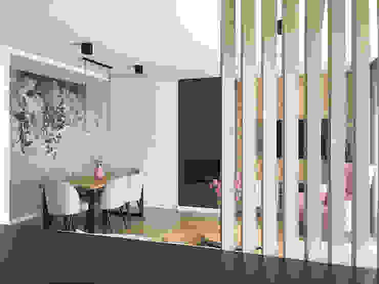 Belleville projektowanie wnętrz Modern dining room Wood White