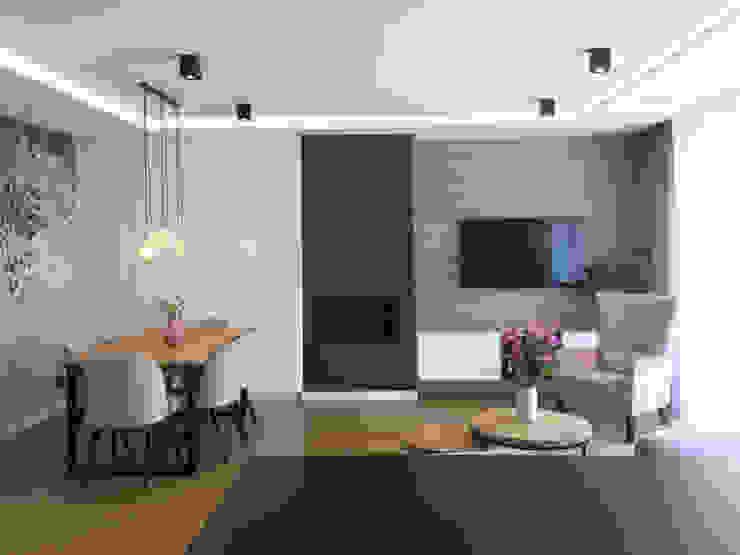Belleville projektowanie wnętrz Living room Wood Wood effect