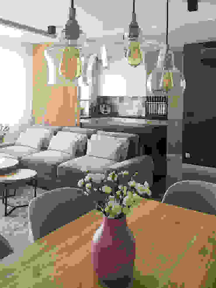 Belleville projektowanie wnętrz Kitchen units Wood White