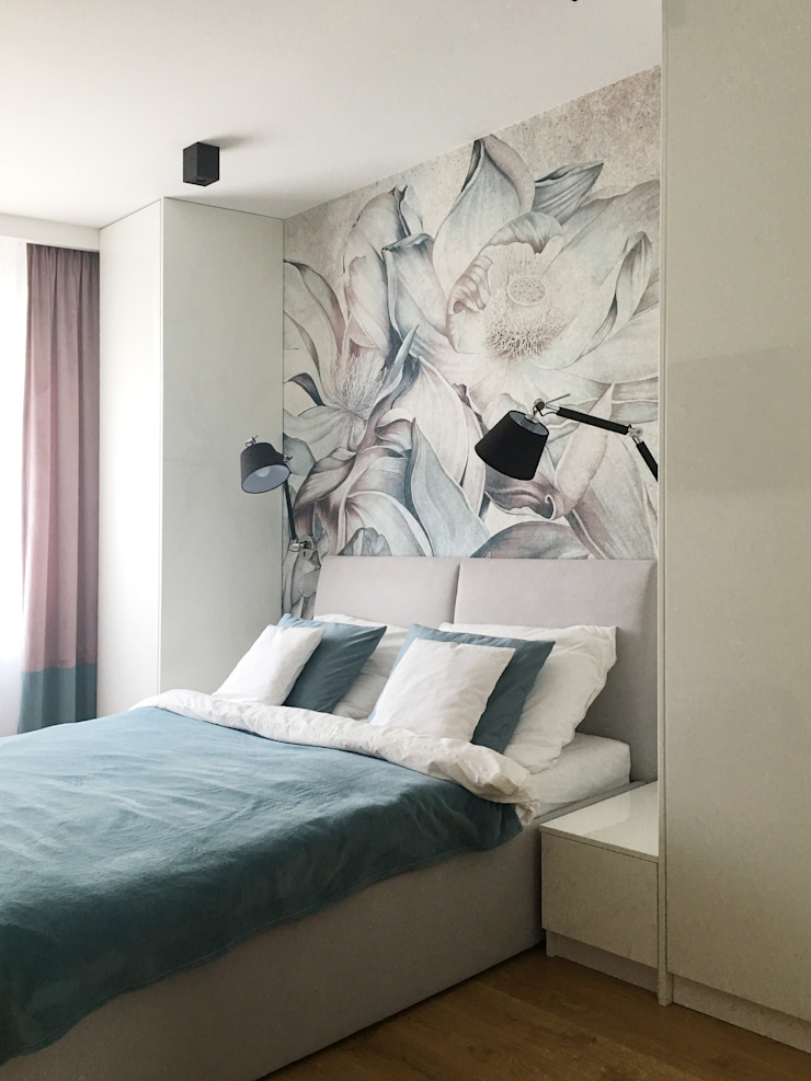 Belleville projektowanie wnętrz Modern style bedroom Blue