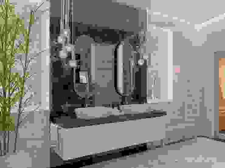 студия Design3F Baños de estilo minimalista Azulejos Blanco