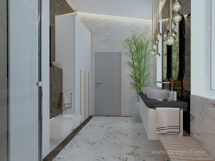 студия Design3F Baños de estilo minimalista