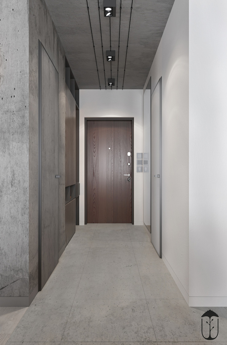 Minimalist corridor, hallway & stairs by YOUSUPOVA Minimalist