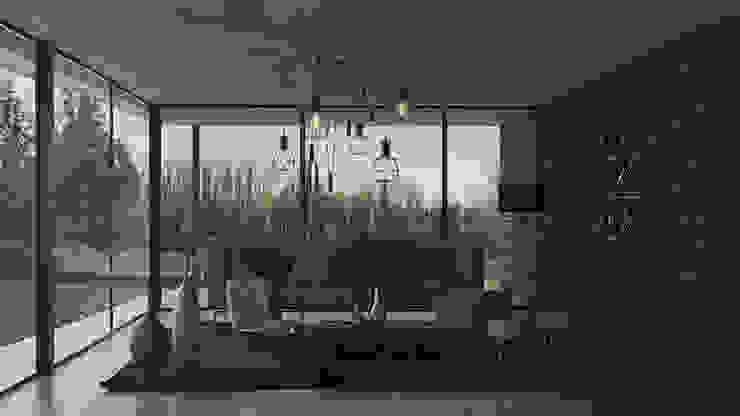 Salon scandinave par MOD | Arquitectura Scandinave Briques