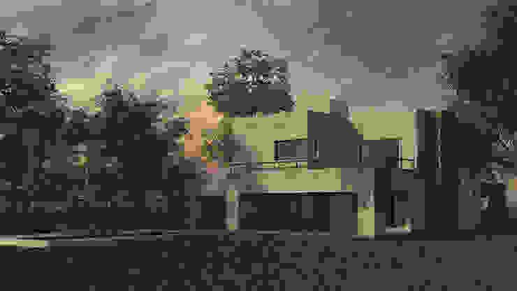 Exterior Casas modernas: Ideas, imágenes y decoración de MOD | Arquitectura Moderno Piedra