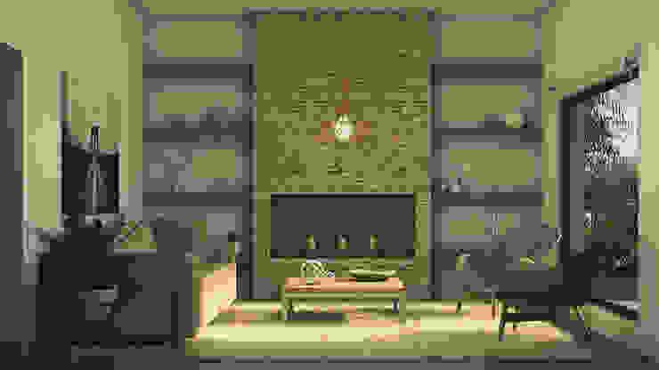 Living Salones escandinavos de MOD | Arquitectura Escandinavo Piedra