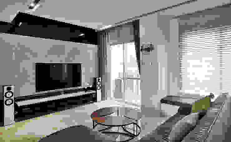 主客廳 现代客厅設計點子、靈感 & 圖片 根據 安提阿設計有限公司 現代風