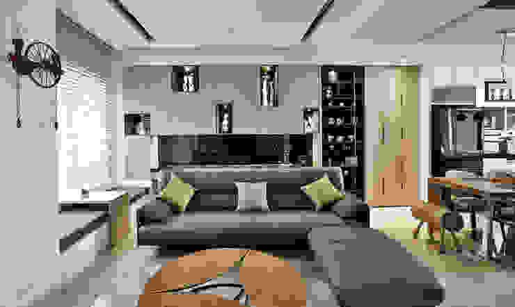 主客廳 Modern living room by 安提阿設計有限公司 Modern