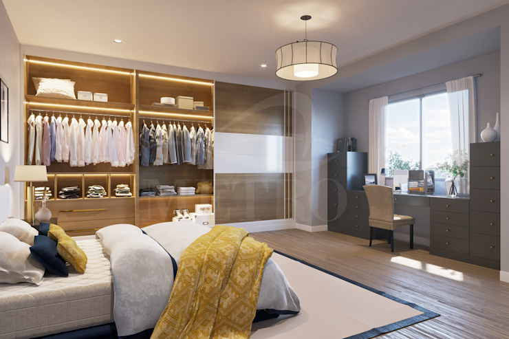 Fitted Wardrobes with Sliding Doors London: modern  by Metro Wardrobes London, Modern