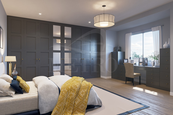 Bespoke Fitted Bedrooms London de Metro Wardrobes London Moderno