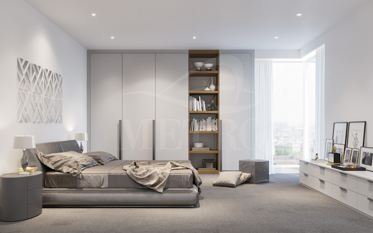 Custom Fitted Bedrooms London de Metro Wardrobes London Moderno