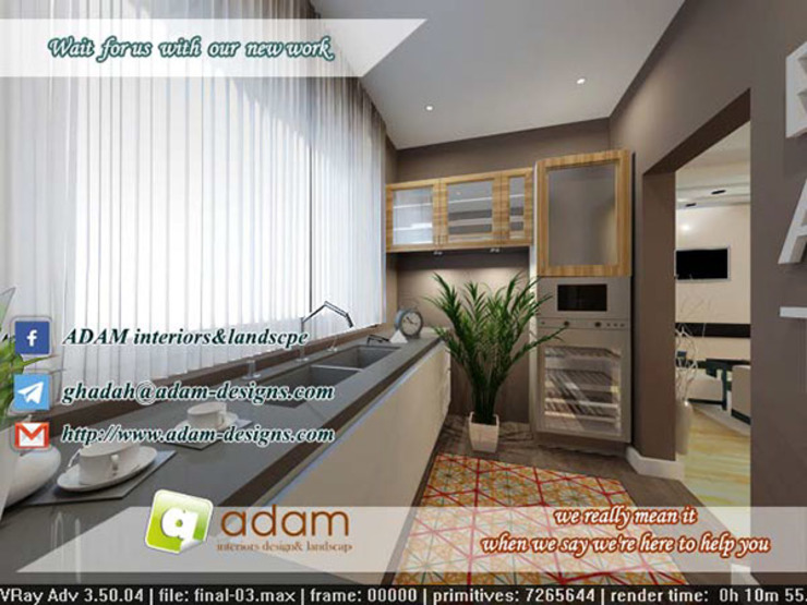 kitchen : حديث  تنفيذ ADAMfor interior&landscpe, حداثي ألواح خشب مضغوط