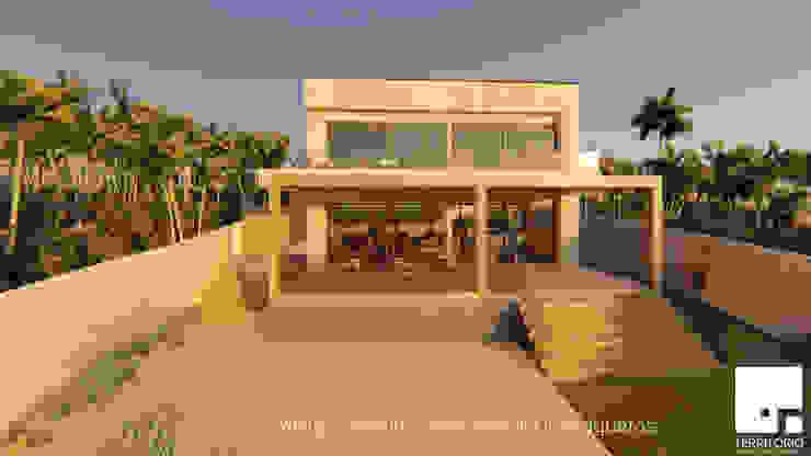 Terraza: Cabañas de estilo  por Territorio Arquitectura y Construccion - La Serena