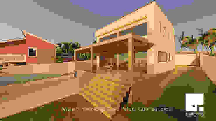 Terraza Casas estilo moderno: ideas, arquitectura e imágenes de Territorio Arquitectura y Construccion - La Serena Moderno