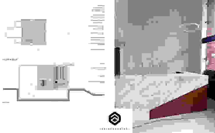 Lobby P7 Pasillos, vestíbulos y escaleras de estilo moderno de Arkisensorial Moderno