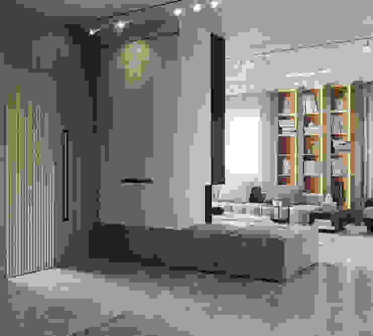 Suiten7 Minimalist corridor, hallway & stairs White