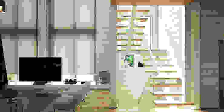 Дизайн интерьера коттеджа Ласковый май от студии Suite n.7 от Suiten7 Рустикальный Дерево Эффект древесины
