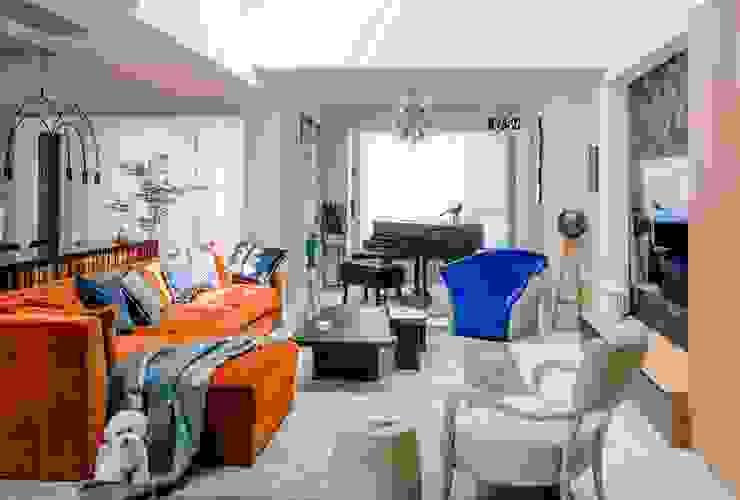 The living space C&M Media Modern Living Room