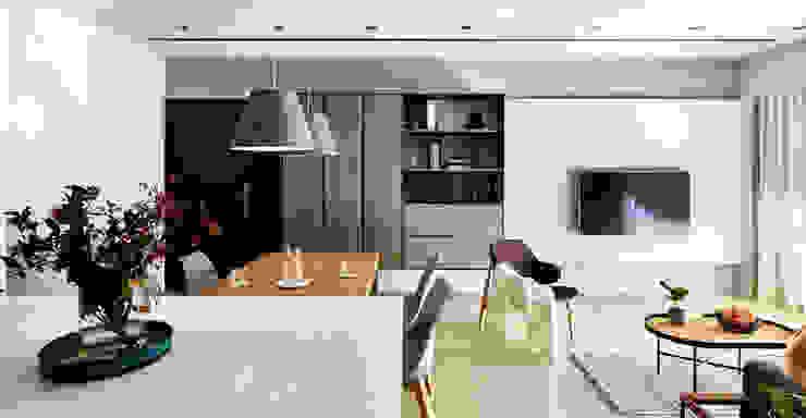 客餐廳 樸十設計有限公司 SIMPURE Design Living room