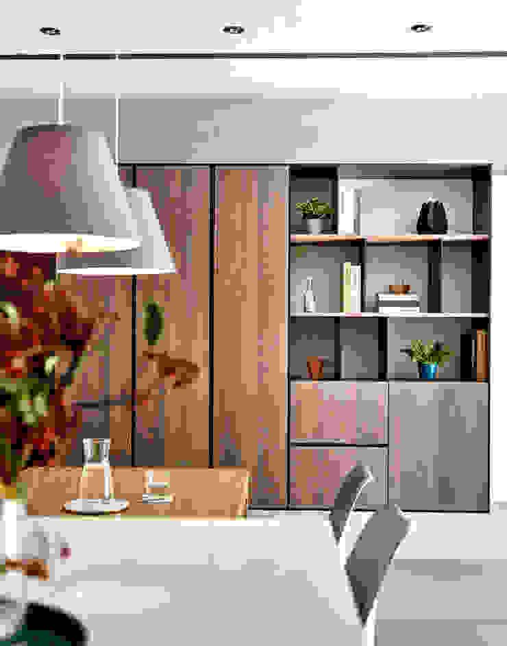 餐廳 樸十設計有限公司 SIMPURE Design Minimalist dining room