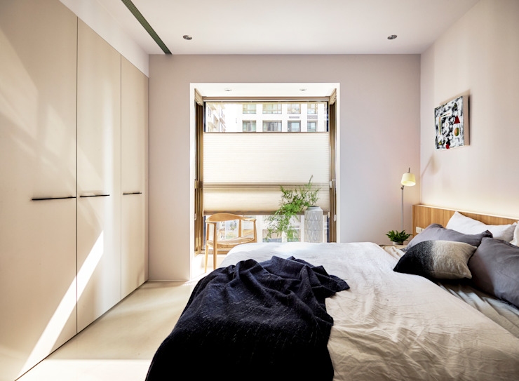 臥室 樸十設計有限公司 SIMPURE Design Minimalist bedroom