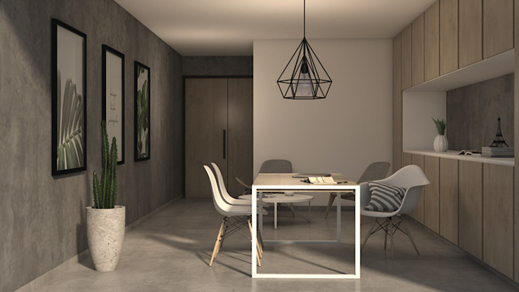 Modern Study Room and Home Office by MOD | Arquitectura Modern