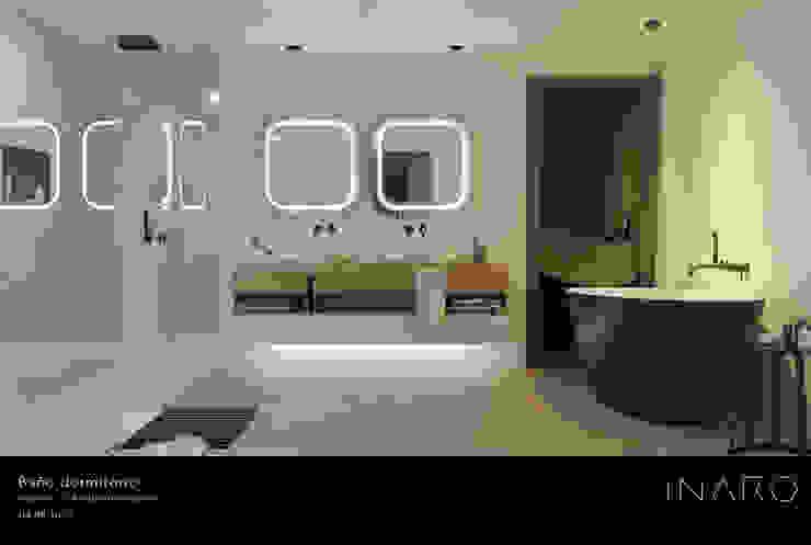 INARQ Espacio 現代浴室設計點子、靈感&圖片 陶器 Black