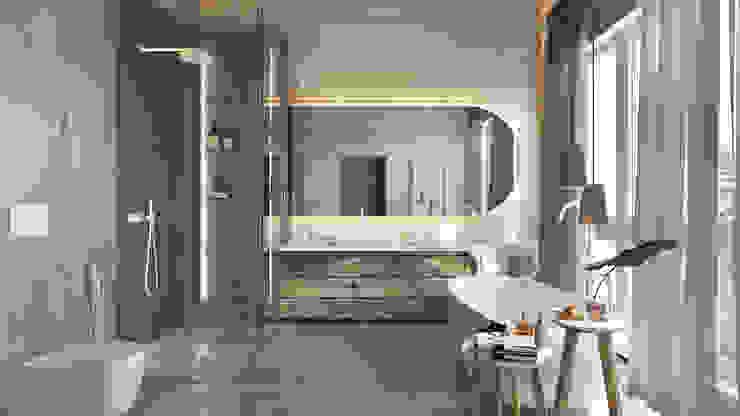 Дизайн интерьера коттеджа Ласковый май от студии Suite n.7 Ванная комната в скандинавском стиле от Suiten7 Скандинавский Дерево Эффект древесины