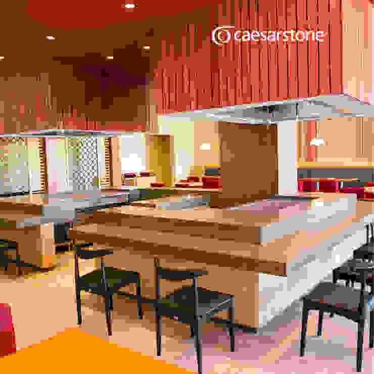 HOTEL DREAMS CANCÚN Hoteles de estilo asiático de Caesarstone Asiático Cuarzo