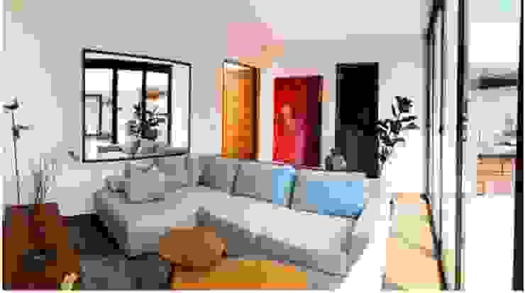 RESIDENCIAL   ROOF GARDEN ROMA SUR Salones modernos de Tk arquitectura Moderno