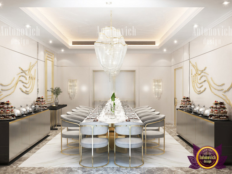 Elegant Dining Room Interior by Luxury Antonovich Design