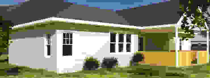 Vivienda estilo tradicional 1planta 196M2 Casas estilo moderno: ideas, arquitectura e imágenes de CEC Espinoza y Canales LTDA Moderno