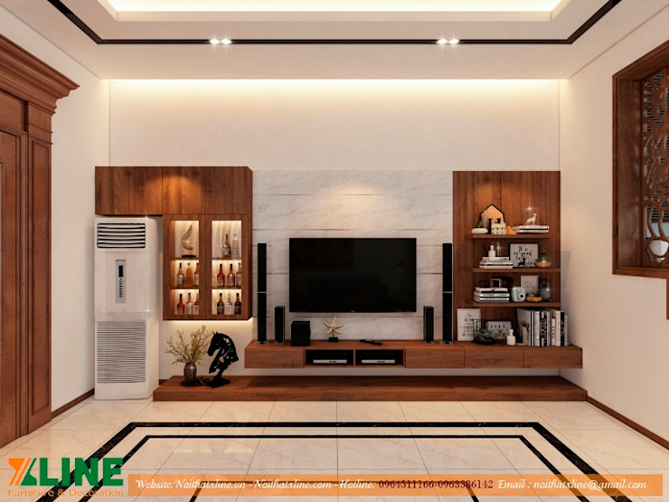 Thi công nội thất nhà ở gia đình chị Hoài : hiện đại  by NỘI THẤT XLINE, Hiện đại