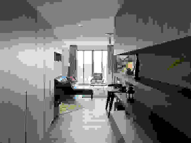 慢活 鈊楹室內裝修設計股份有限公司 熱帶式走廊,走廊和樓梯