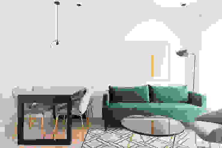 Vivienda en c/ Vallehermoso IDC_STUDIO Salones de estilo moderno