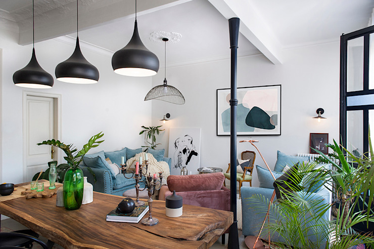 La Casa Bipolar Salones de estilo ecléctico de Egue y Seta Ecléctico