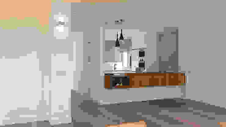 arQmonia estudio, Arquitectos de interior, Asturias Modern corridor, hallway & stairs