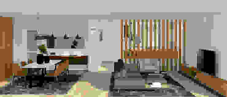 arQmonia estudio, Arquitectos de interior, Asturias 现代客厅設計點子、靈感 & 圖片