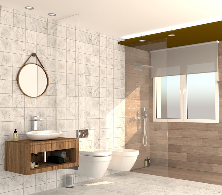 arQmonia estudio, Arquitectos de interior, Asturias Modern style bathrooms