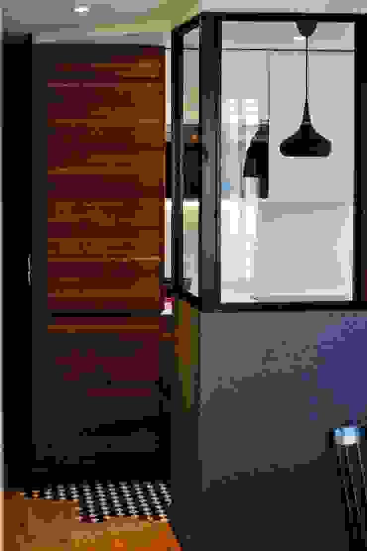 Détail - verrière Créateurs d'Interieur Couloir, entrée, escaliers industriels